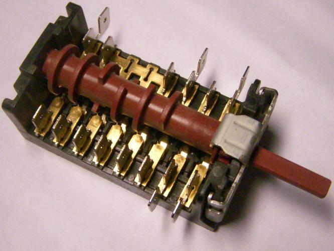 7-ми позиционный 8-ми контакный переключатель 870800K для электроплиты Hansa