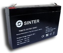 Аккумулятор 95 х 150 х 33 мм FM670 (6В, 7 А/ч)