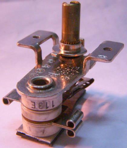 Биметаллический термостат T250-II электроплиты током до 8 ампер