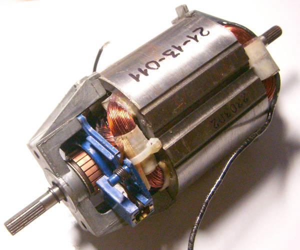 Двигатель электротриммера под якорь шлицы-щлицы