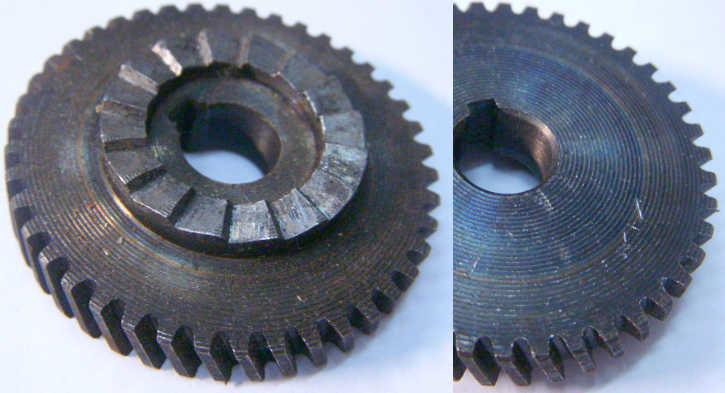 Шестерня ударной дрели на 42 зуба вправо, посадка на 10 мм