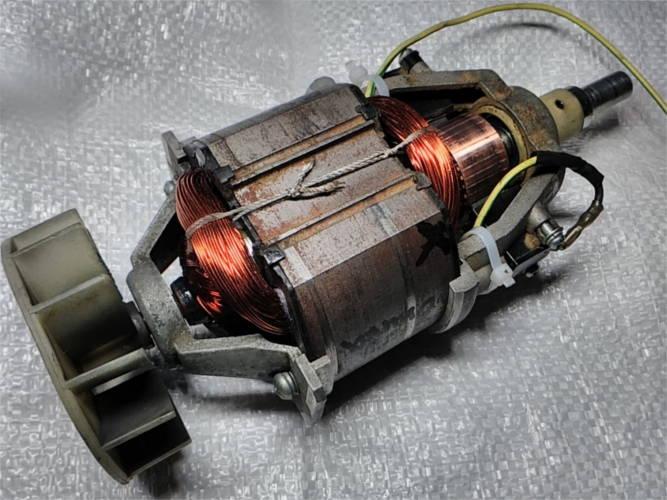 Ремонт электродвигателя L235-74*90 электротриммера Садко 1200