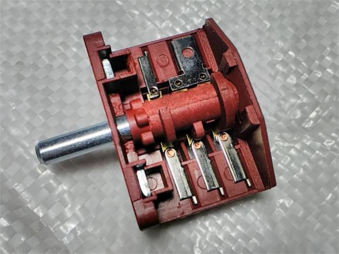 5-ти переключатель электроплиты 3*2 контакта 16 Ампер металл 17 мм