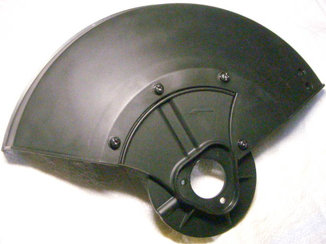 Защитный пластиковый кожух ножа электрокосы Клевер на трех болтах