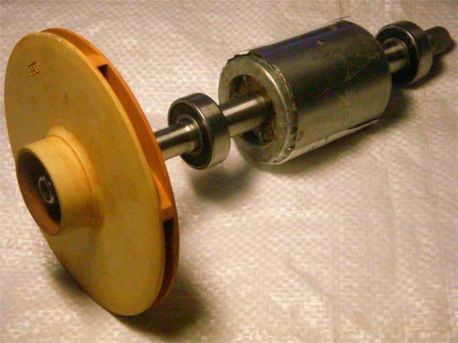 Восстановление вала ротора насоса Euroaqua JY1000