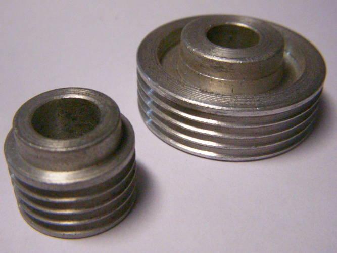 Шкивы d37*M10-d20-4R электрорубанка под 4-х ручейный ремень