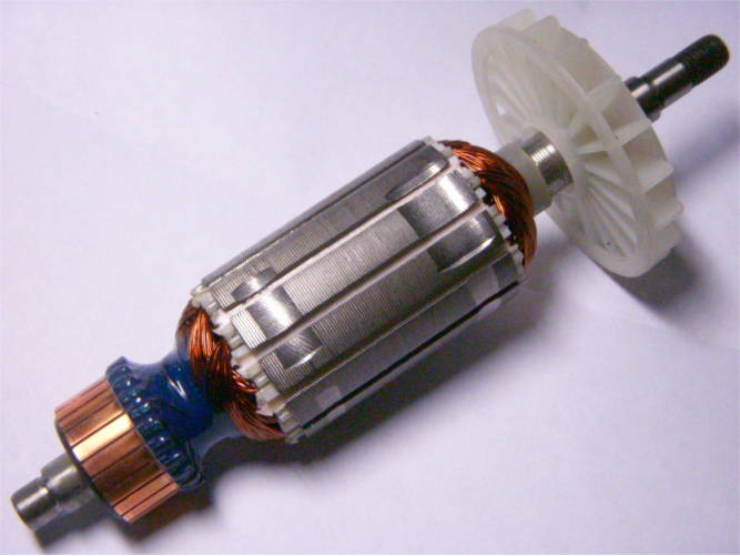 Якорь 35 мм для болгарки DWT WS08-115, 125, 115V, 125V, 115T, 125T