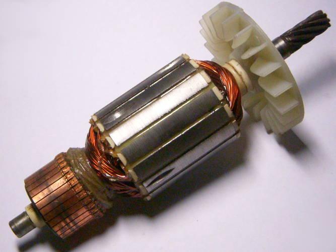 Якорь двигателя дисковой электропилы Ворскла, Витязь ПД-2200, Craft-Men CTS-221