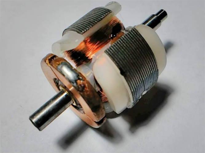 Якорь 44 мм двигателя электробритвы Агидель