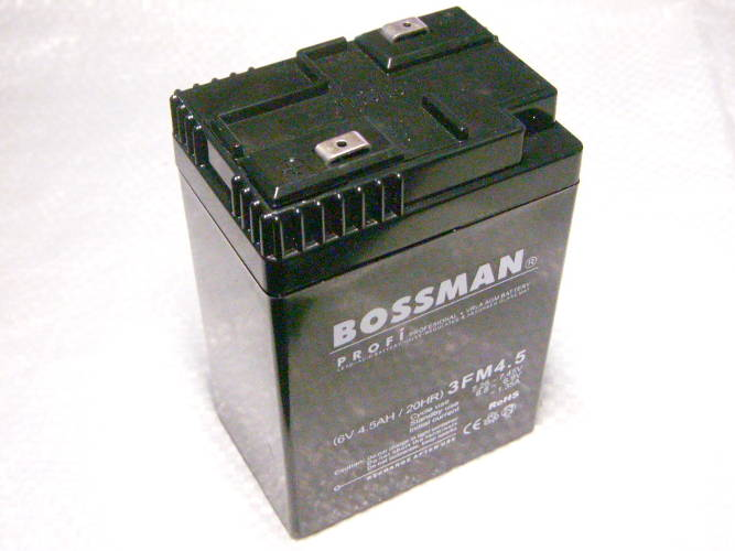 Аккумулятор 6V 4.5Ah Bossman с закрытыми клеммами