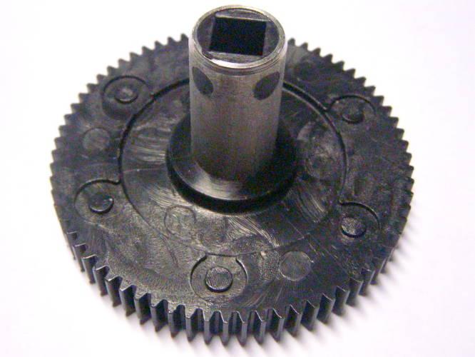 Шестерня d72-h41 на металлическом валу под внутренний квадрат 8.5 мм