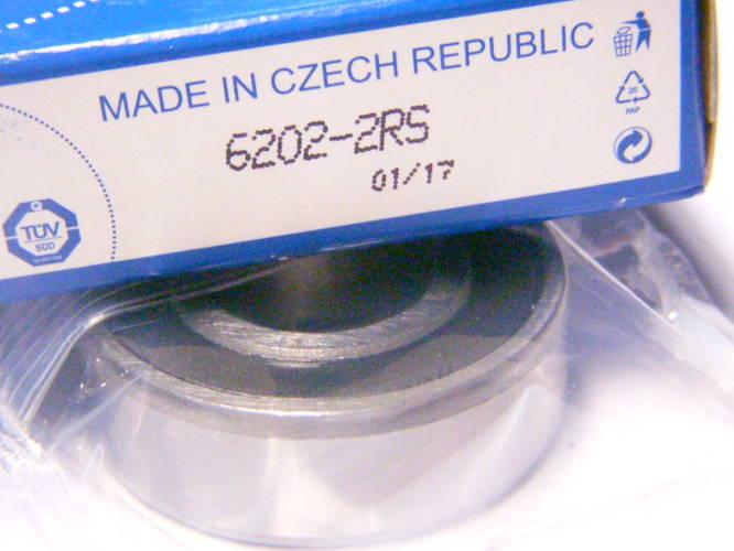Чешский шариковый подшипник 6202-2RS размером 15*35*11 мм