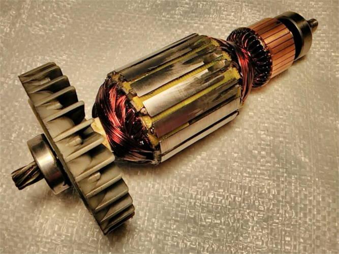 Ремонт якоря d56-L216 для торцовочной пилы EURO CRAFT CM 233