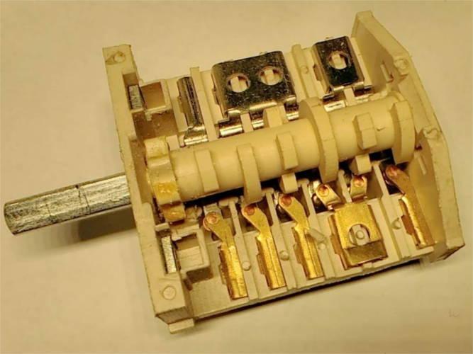 Переключатель на 6+5 контакта для электроплиты Flama, Egg