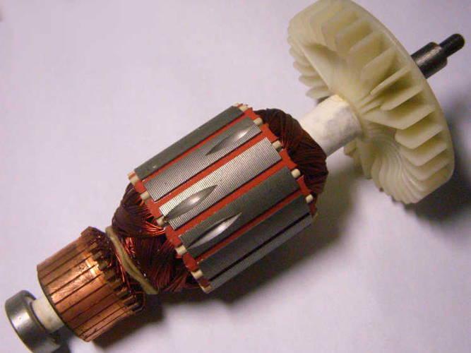 Якорь 47*180-M6 с подшипниками для цепной электропилы ИжМаш, Арсенал, Intertool