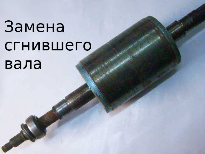 Замена вала ротора мощной насосной станции JET 100A 1,1кВт