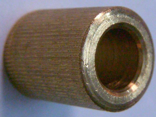 Латунная ремонтная втулка 8*12*16 хлебопечки DEX DBM-307