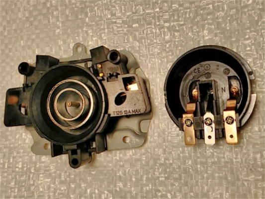 Контактная автоматика KSD-169-C электрочайника Aurora, Bosch