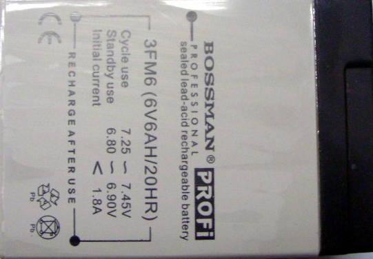 Качественный аккумулятор Bossman Profi 6Ah 6 V для бытовой техники