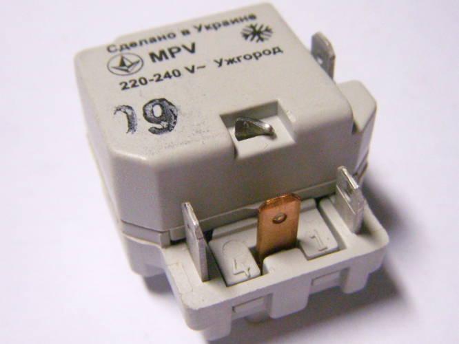 Пускозащитное реле MPV 0.9K холодильника Норд, Атлант, Днепр