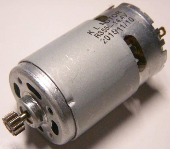 Электродвигатель шуруповерта 14,4 Вольта с шестерней 11 зубов