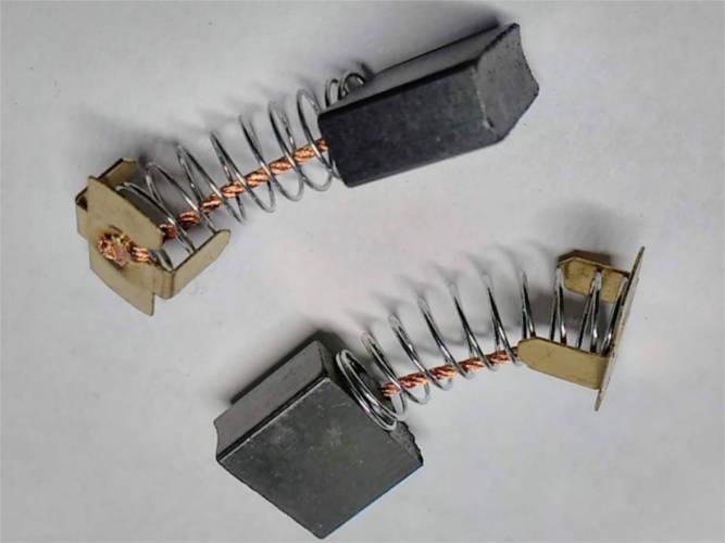 Комплект токосъемных щекток 7*17 (прямоугольник скоба) для цепной электропилы