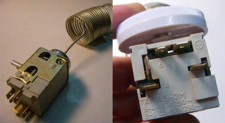 Российский датчик-реле температуры ТАМ 145-2М для холодильника