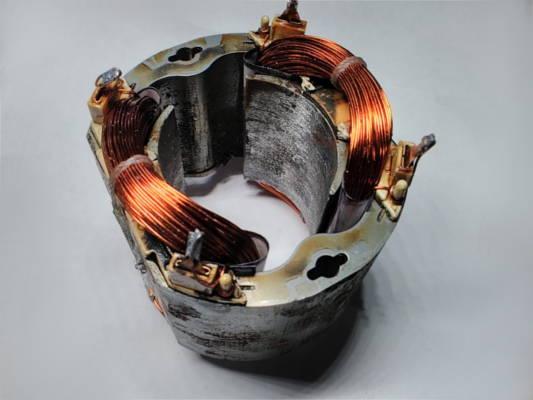 Ремонт статора 84*72*85-L52 электрокосы Бригадир