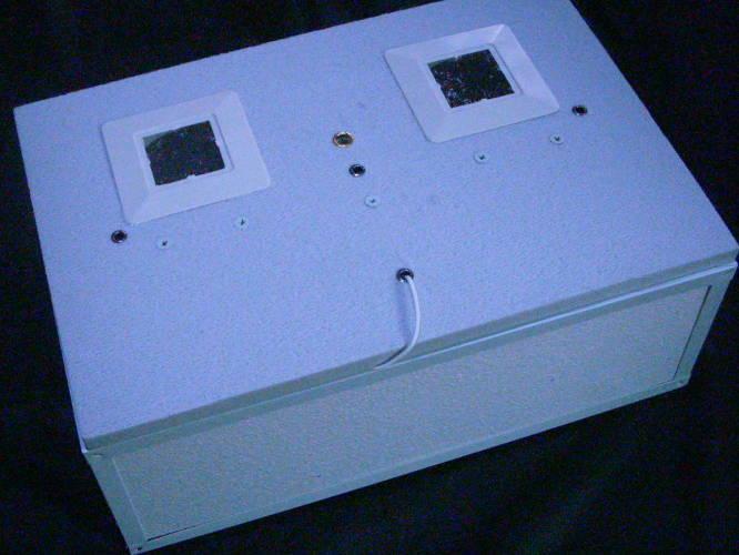 Бытовой инкубатор емкостью до 100 куриных яиц с полистирольной крышкой