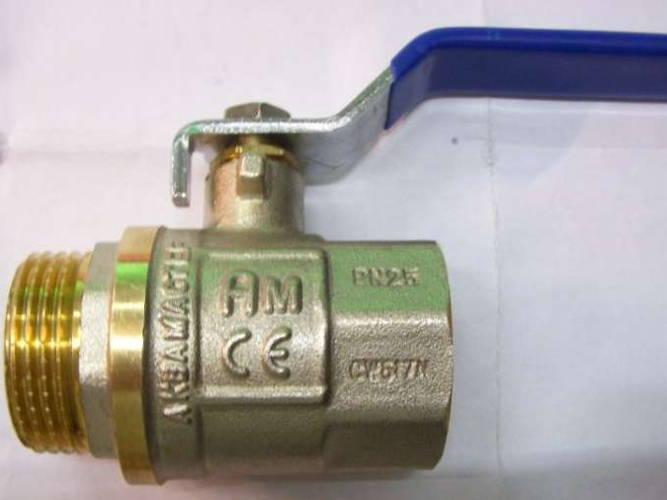 Латунный шаровой кран с внутренней/наружной резьбой 25 мм длинная ручка