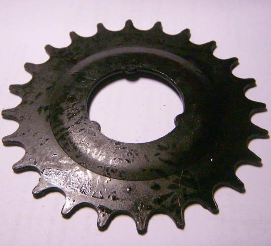 Каленая цепная звезда 100*37 мм на 24 зуба для велосипеда и мотоблочной сеялки