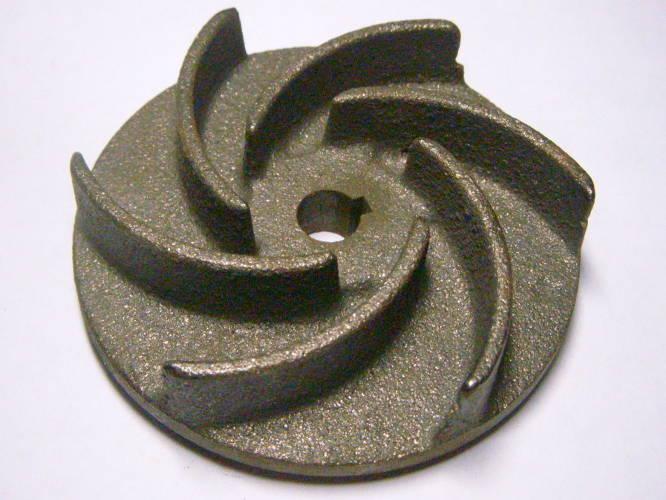 Чугунная крыльчатка для дренажно-фекального насоса на 12 мм