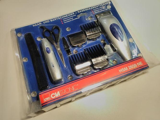 Машинка стрижки волос и бороды эпилятор носа ушей Clatronic HSM 2659 NE
