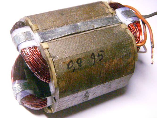 Ремонт статора болгарки STERN AG-230 D под якорь 49 мм