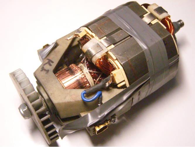 Ремонт электродвигателя триммера Бригадир первых выпусков