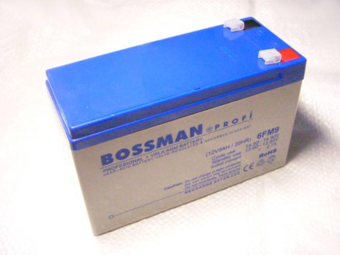 Качественный аккумулятор Bossman 6FM9 на 12 Вольт емкостью 9Ah