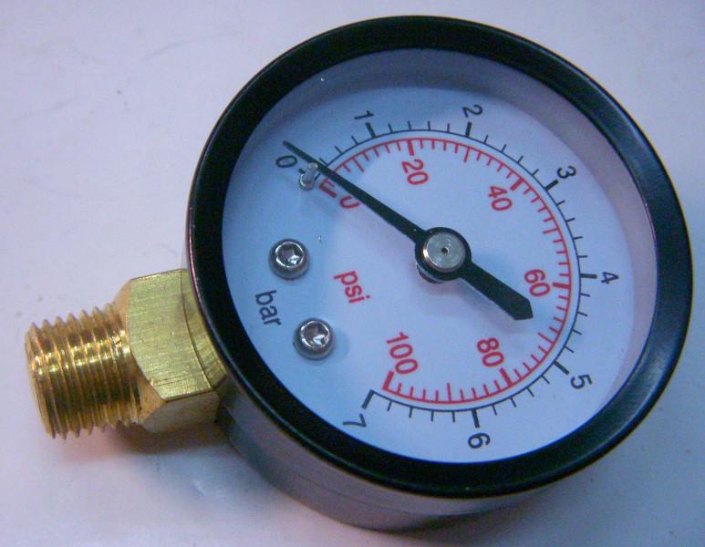 Водяной манометр с резьбой 13 мм с торца