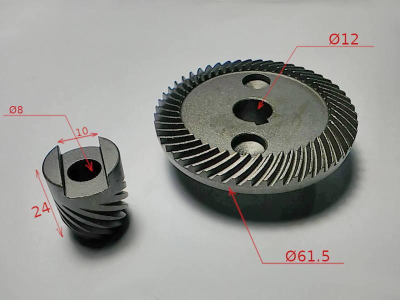 Шестерни редуктора 62*12-24*8 для 180-й болгарки Ритм 180