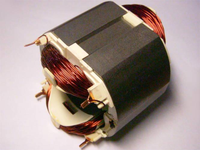 Статор размером 84*72 мм под якорь электрокосы Бригадир 1200, Гранит СТ-1400