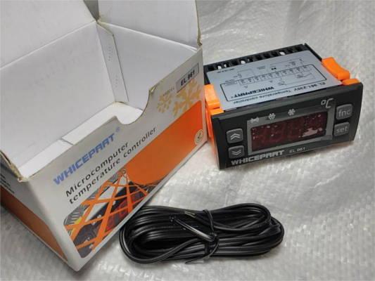 Цифровой однодатчиковый терморегулятор Whicepart EL 961