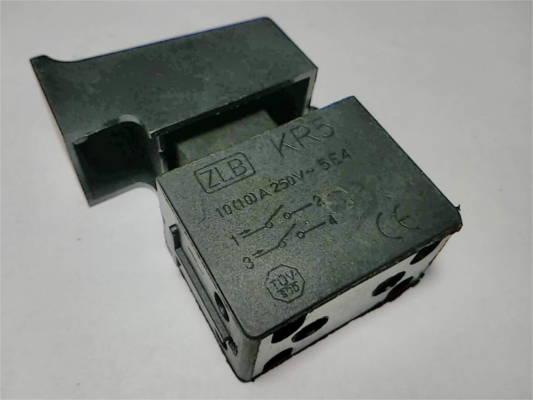 Кнопка болгарки ZLB KR5 10A 5E4 без фиксатора