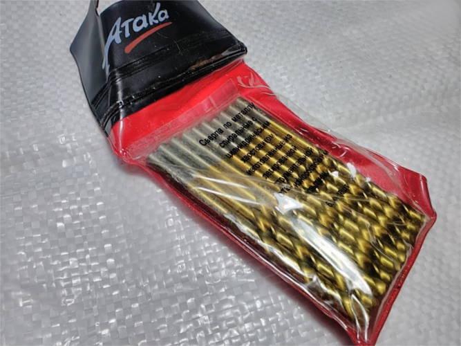 Профессиональные сверла Ataka 6 мм по металлу 10 шт