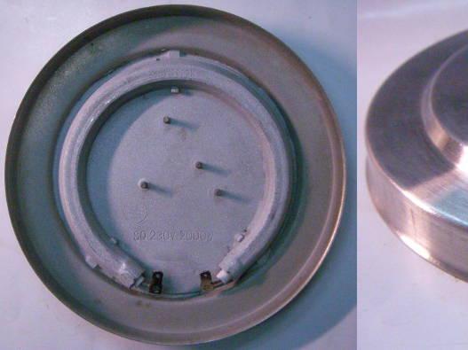 Дисковый нагревательный тэн 2кВт 150 мм из нержавеющей стали для электрочайника