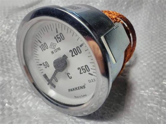 Металлический термометр Pakkens 0-250°C с датчиком 1 метр