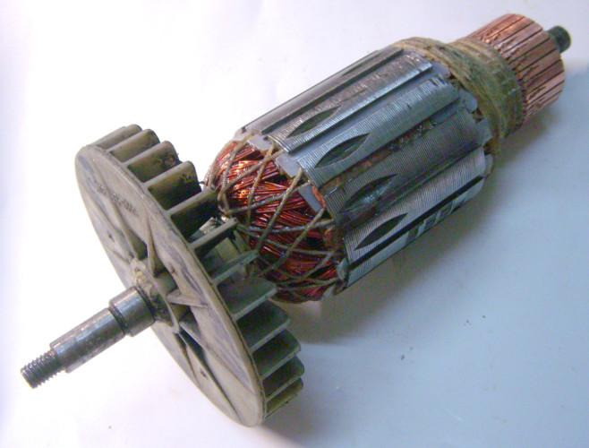 Перемотка якоря цепной электропилы Кедр ПЦ-2800 под вал 10 мм