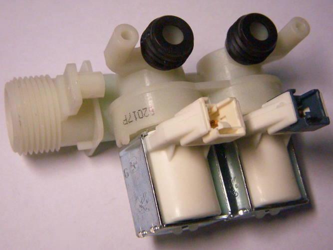 Двойной клапан EDL90/88 стиральной машины Indesit, Ariston на две фишки