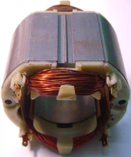 Статор двигателя электрокосы