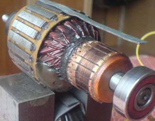 Ремонт якоря цепной электропилы
