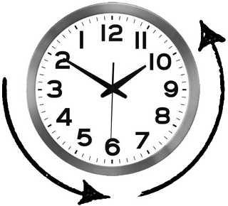 Подарочные часы в обратную сторону