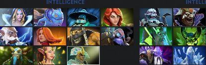 Dota 2 - obrazovka výběru hrdinů a nastavení